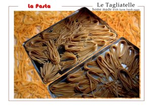 Home made pasta made with organic farm fresh eggs / also with spinach.