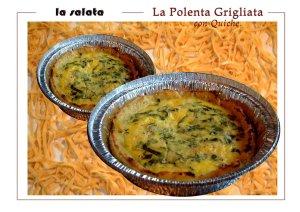 Polenta Grigliata con Quiche (gluten free)